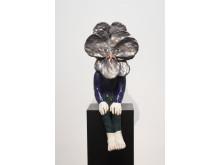 Klara Kristalova, Black-head Fower, 2015, Glazed Stoneware, 92x45x40 cm, courtesy the artist and Galleri Magnus Karlsson