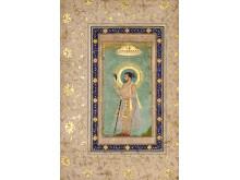 Portrait de Shah Jahan sous un baldaquin