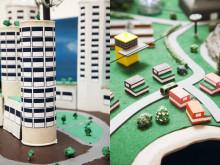 Detalj av modeller från förra årets Future City-tävling 2011/2012