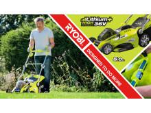 Ryobis nya 36V High Efficiency gräsklippare har tagit batteridriven klippkapacitet till en ny nivå!