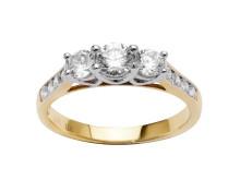11 diamanter, 1,00ct. - 36.998,-