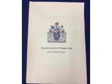 Memorial service booklet