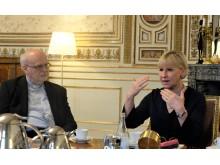Margot Wallström i möte med kyrkorna