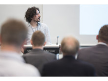 Alessandro Maccarini, PhD student at the Danish Building Institute in Copenhagen, presented his study on Lindab's Solus system to a large audience
