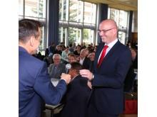 Takeda-Runge-Schülerpreis - Wolfgang Eck und Landrat Ludger Weskamp