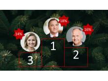 Julbordsundersökning 2018 - Topp tre partiledare