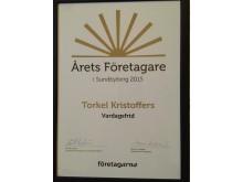 Årets Företagare Sundbyberg Torkel Kristoffers