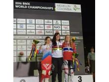 Bronse til Silje Fiskebekk i VM BMX 2016