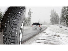 Studded winter tyres