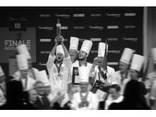 Ørjan Johannessen tar seieren i Bocuse d'Or i 2015. Eirik Nilssen/Matbyrået Impuls