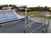 Hybridsolfångare som ger el och värme.