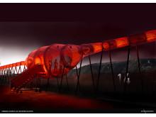 Lysmasken i Kiruna av HAPPYSPACE