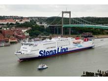 Stena Germanica III anländer Göteborg för första gången