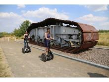 Segway-Tour entlang des Werbeliner Sees - Originalteil eines Schaufelradbaggers