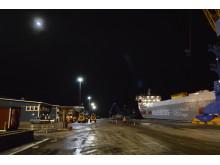Piteå hamn miljösatsar med LED mastbelysning