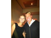 Natasha Godbold and Shane Warne