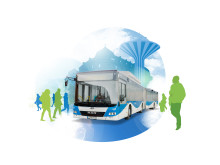 Buss med örebrobakgrund