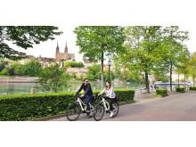 Mit dem E-Bike durch Basel
