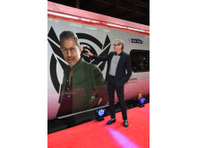 Jeff Goldblum took to Platform 16 at London Euston station today as Virgin Trains unveiled its new complimentary on-board entertainment service, BEAM