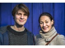 Simen Tomren Grip, leder av Tryggere Ungdom og Ina Roll Spinnangr, leder av Foreningen Tryggere Ruspolitikk
