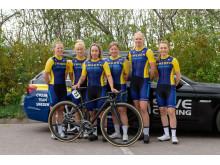 Svenska landslaget dam elit på Tour of Uppsala 2019