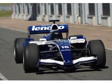 Formel 1-uppvisningen i Anderstorp på söndag kommer även att omfatta denna Williams FW28 med V8 Cosworth-motor som Nico Rosberg körde i VM 2006. Foto: Privat