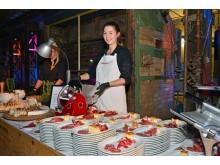 Mit einem kreativen Catering bot ENK Leipzig den rund 150 Gästen einen Augen- und Gaumenschmaus