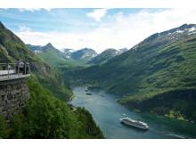 Am Geirangerfjorden in Fjordnorwegen