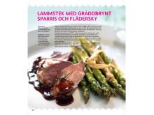 Lammstek med gräddbrynt sparris - från Skånemejeriers nya kokbok Ät Godare