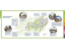 Idékarta med föreslagna förändringar i området