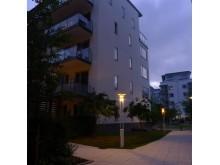 Bild 3. Kv. Konvojen i Hammarby Sjöstad. Fox Design har levererat belysningen.