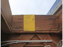 Informationsskylt för taksäkerhet