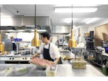 Restaurang Gastros akustikbehandlade kök