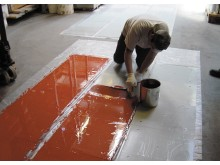 High res image - Sika Limited - Sikafloor Marine PU Red application