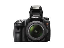 SLT-A57_front_wSAL1855_lens_flash