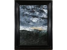 Vågen VI, Vågen VIII, dubbelsidig oljemålning  av August Strindberg från 1902,  i Nordiska museet samlingar.