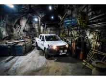 Toyota Hilux i LKAB's gruva