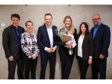Amalie Holt og juryen i Konsernsjefen 2015