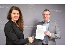 Forsvarsbygg signering