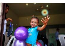 Ett av 119 barn som opererades på Madagaskar