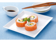 Western Style Rolled Sushi with Norwegian Salmon