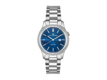 Royal Steel Classic 32mm Blue dial, Diamond bezel