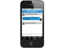 Uno Mobil iPhone app chatt
