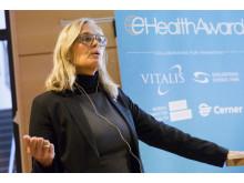 Statssekreterare Agneta Karlsson vid öppningen av eHealth Award. Foto: Emmy Jonsson.