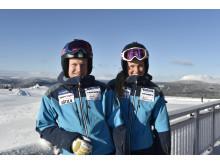 Victor Öhling Norberg och Anna Holmlund, på toppen av Idre Fjäll, redo för världscupen i helgen