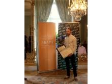 Jesper Brinley, tilldelades Framtidens innovatör för Whats Your Socials