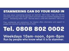 Stamma Helpline information