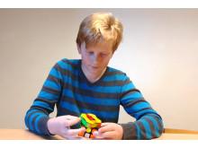 SM-finalisten Waldemar Haraldsson som går i femman i Magra skola.