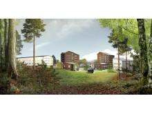 Skiss nya student- och forskarbostäder, Luleå