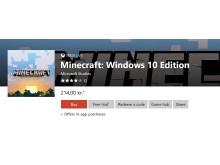 Microsoft Store køb Minecraft